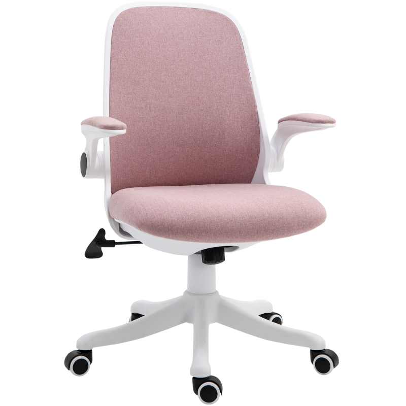 Vinsetto Nylon Mesh Cushioned Office Chair Pink