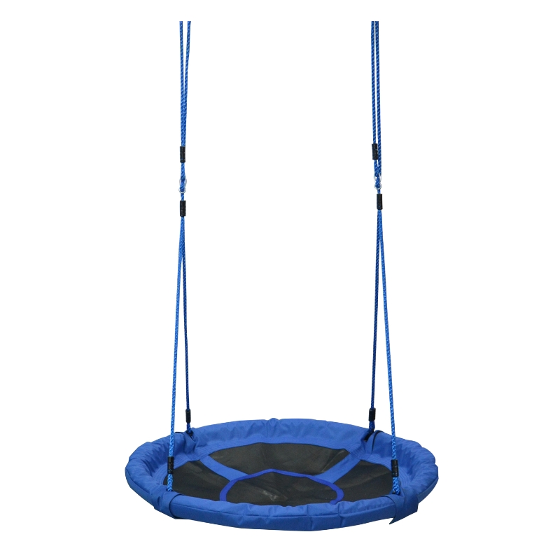HOMCOM Kids Round Tree Swing ø100cm - Blue
