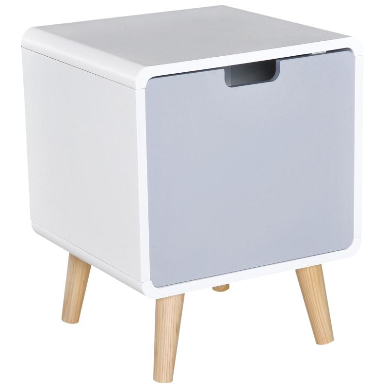 Nachttafeltje modern design nachtkastje met 1 plank wit