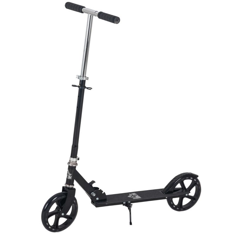 HOMCOM Kids Scooter Height Adjustable Foldable Design Teens Ride On Toy Black