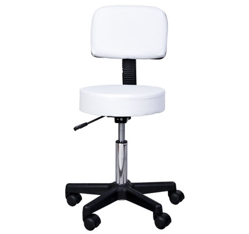 HOMCOM PU Leather Height Adjustable Minatare Salon Therapy Chair
