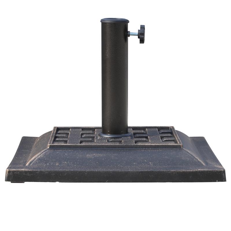 Outsunny Square Shape Umbrella Stand-Bronze