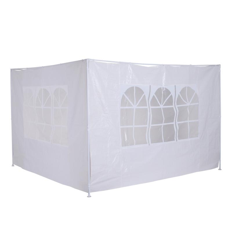Outsunny 3m Gazebo Replacement Side Panel-White