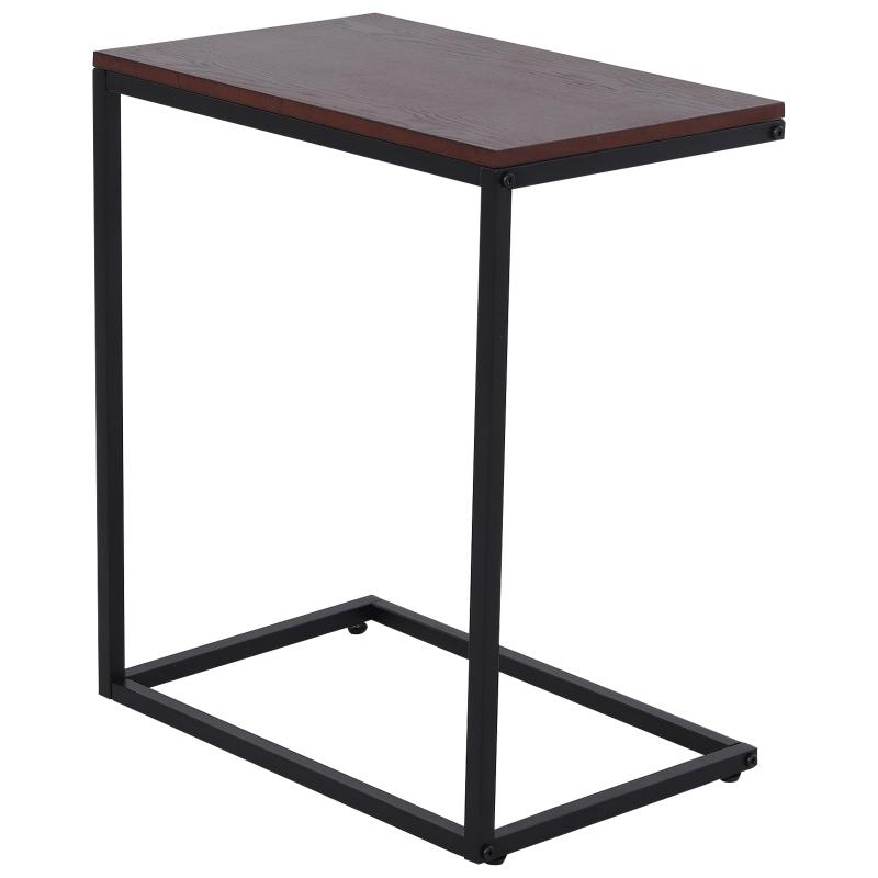 HOMCOM bijzettafel in C-vorm koffietafel salontafel statafel metalen tafel