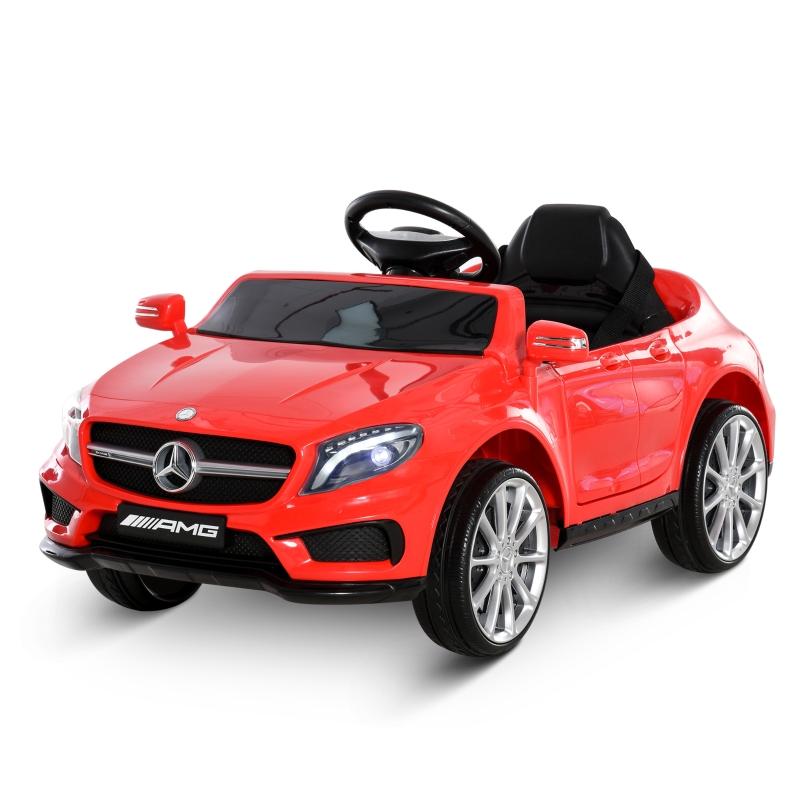 HOMCOM 6V Licensed Mercedes Benz Kids Ride On Car Headlight Music Remote Control Red