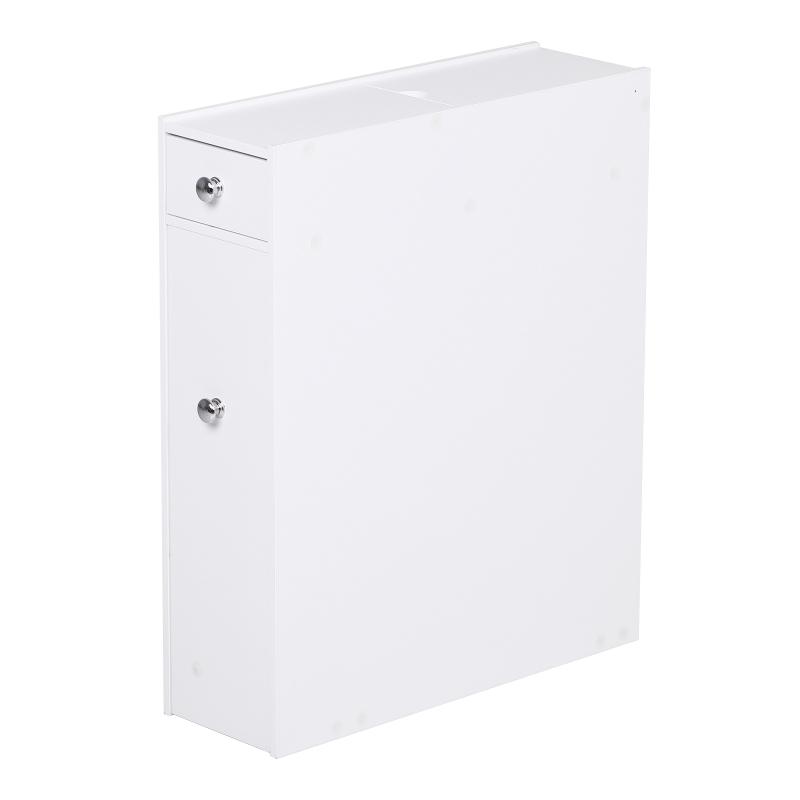HOMCOM Bathroom Floor Cabinet, 17W x 48D x 58Hcm-White