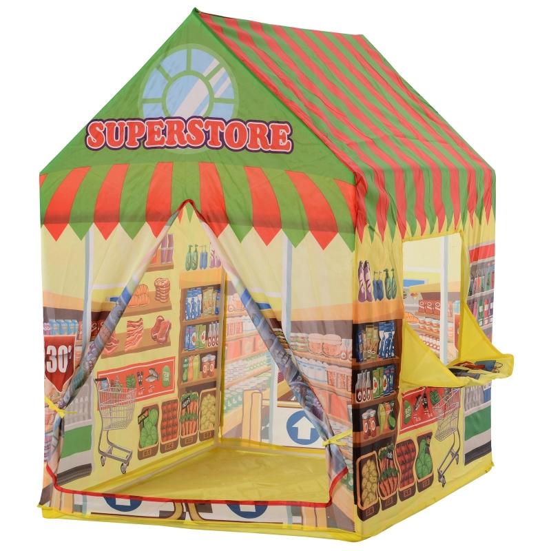 HOMCOM kinderspeeltent speeltent supermarktdeur en verkoopvenster 3 jaar