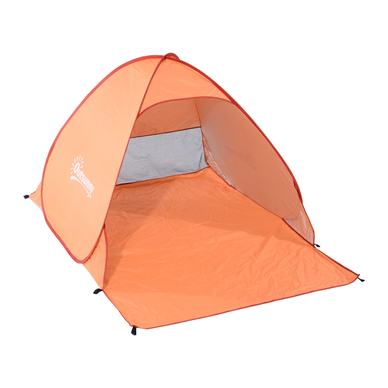 Outsunny 2 Person Pop Up UV Shelter Shade-Orange