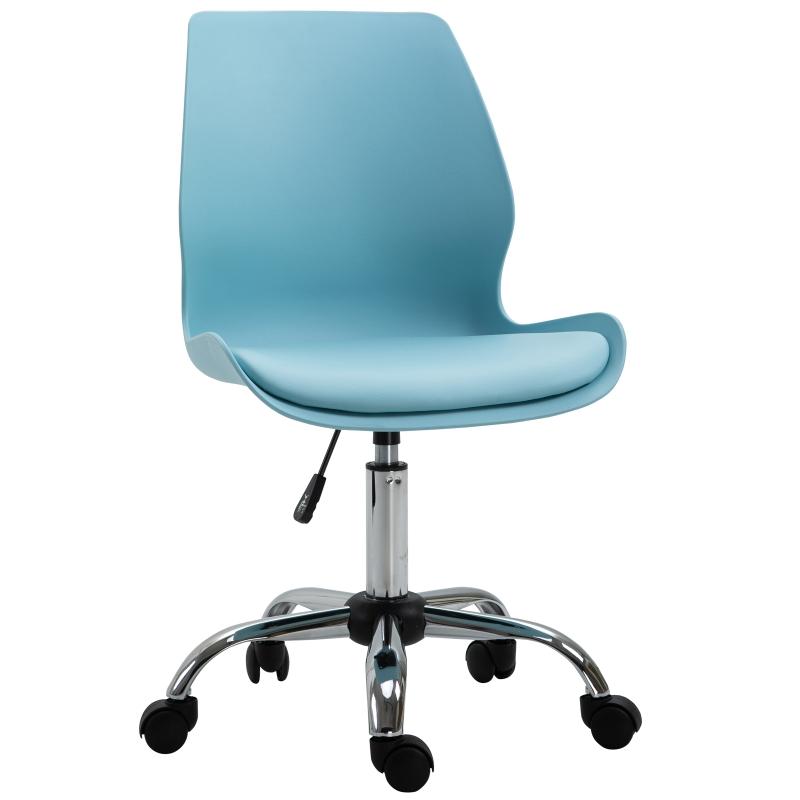 HOMCOM bureaustoel kantoorstoel in hoogte verstelbare draaistoel hemelsblauw