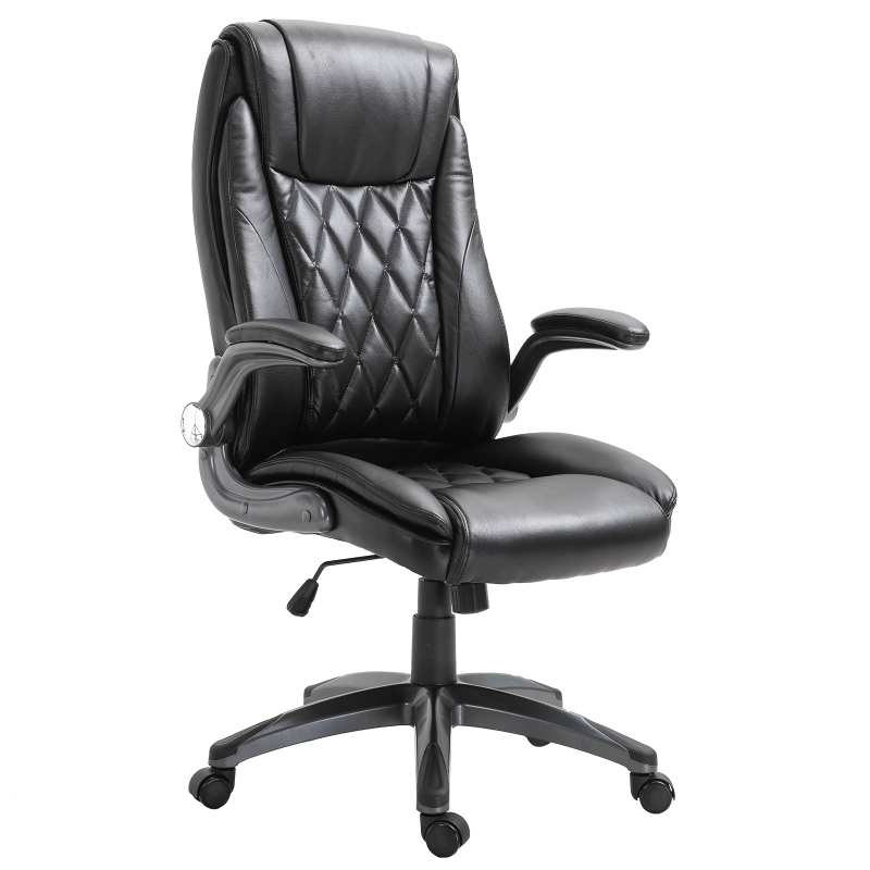 Vinsetto Executive Office Chair Sleek Ergonomic PU Leather 360 Rotation w/ Headrest in Black