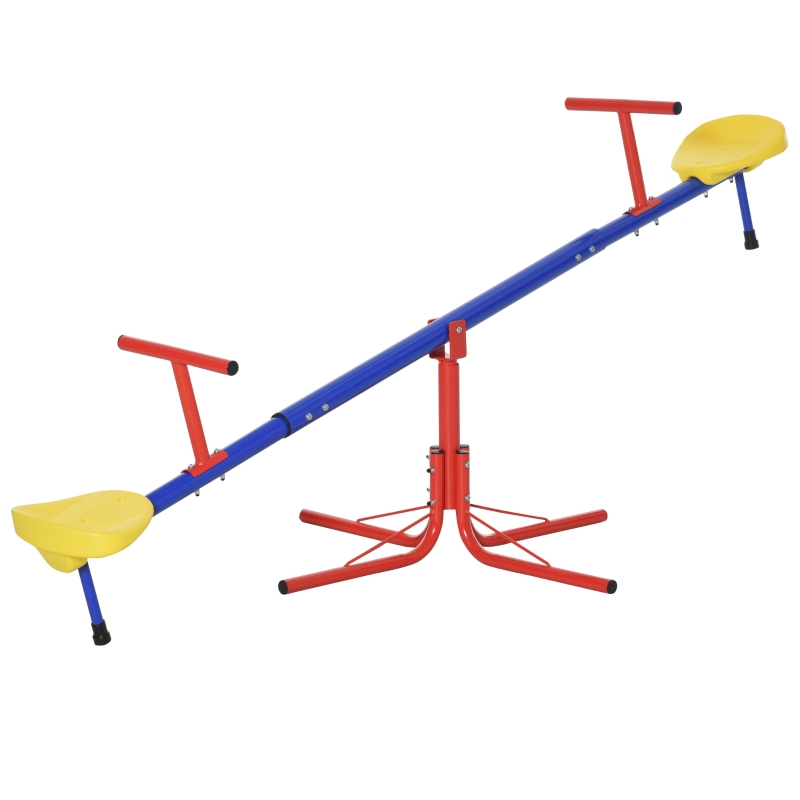 Outsunny Kids 360 Degree Rotating Metal Seesaw Spinning Swivel Teeter Totter