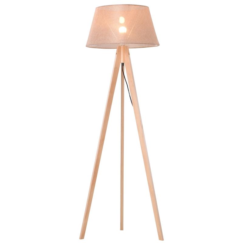 staande lamp vloerlamp stalamp tripod hout Scandinavisch