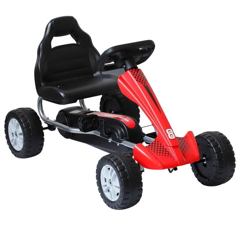 Skelter trapauto trapvoertuig voor kinderen met pedalen 4 wielen voor 3-6 jaar