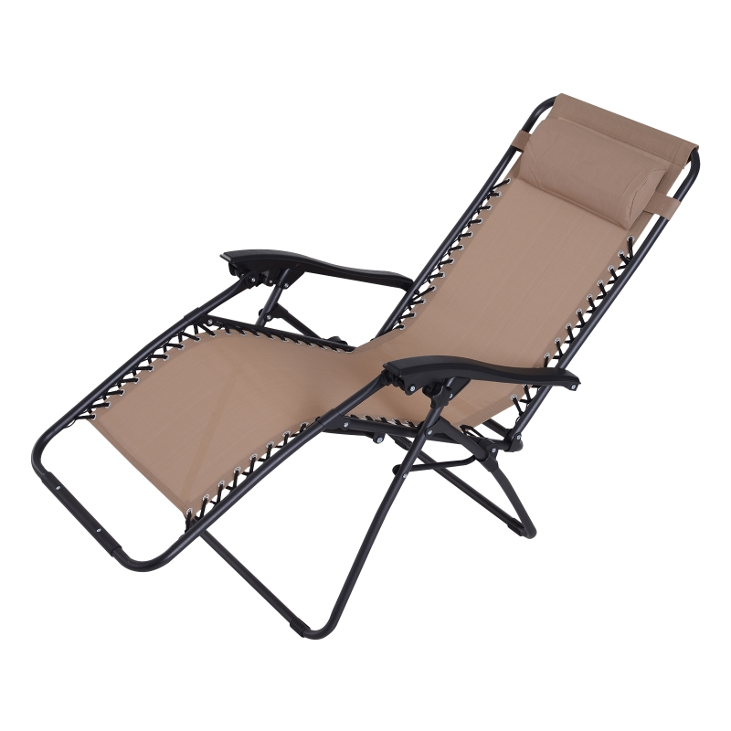 Outsunny Zero Gravity Chair Adjustable Patio Lounge Chair Reclining Seat