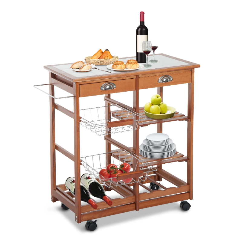 Serveerwagen verrijdbare wagen keukenwagen keukentrolley rolwagen voor de keuken mobiel