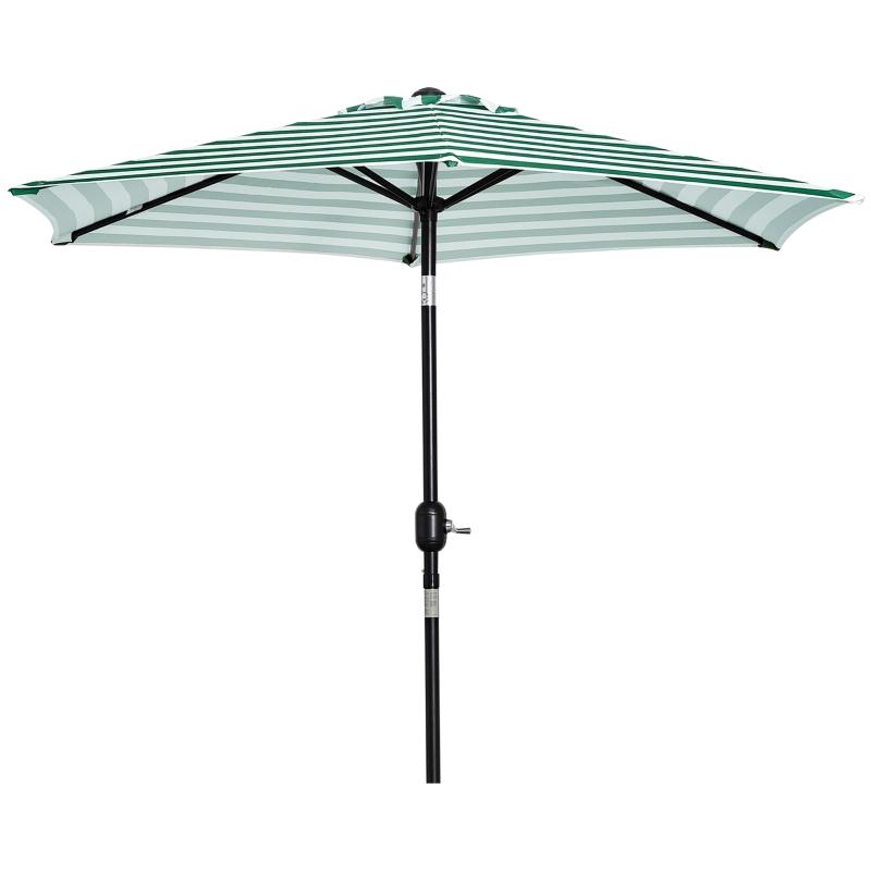 Parasol tuinparaplu buitenshuis park balkon frame staal groene strepen