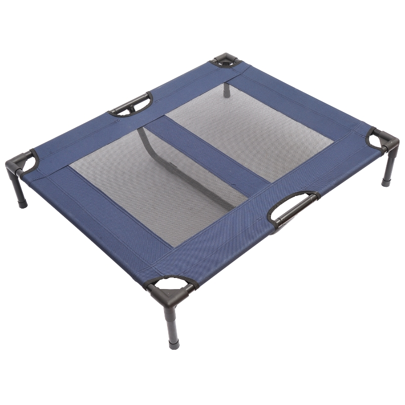 PawHut Large Dogs Elevated Oxford Cloth Bed for Camping Outdoors Blue