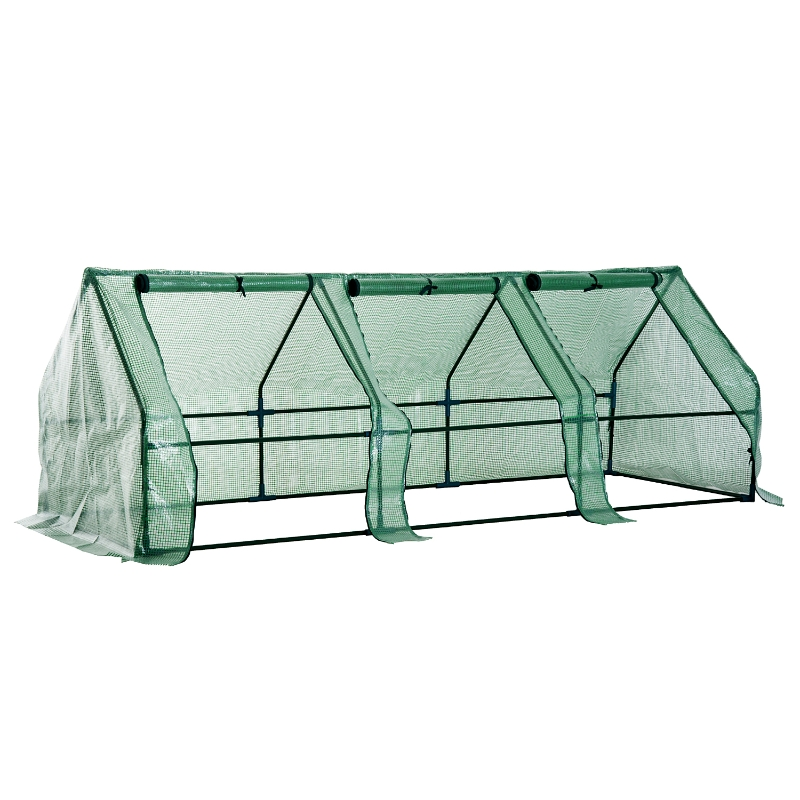 Outsunny Polytunnel Greenhouse, Steel Frame, XS size