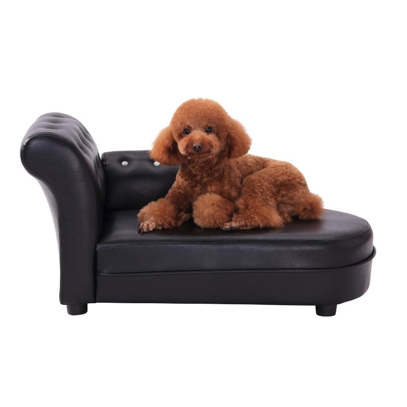 Pawhut 82.5Lx45Wx41.5H cm Pet Sofa-Black