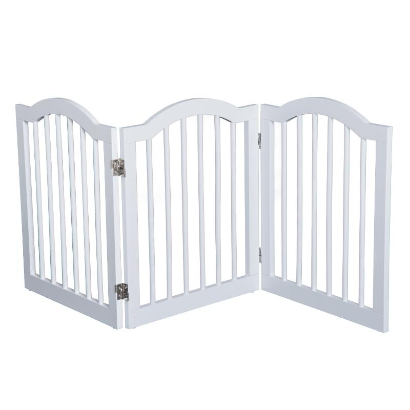 Pawhut Wooden Pet Fence-White
