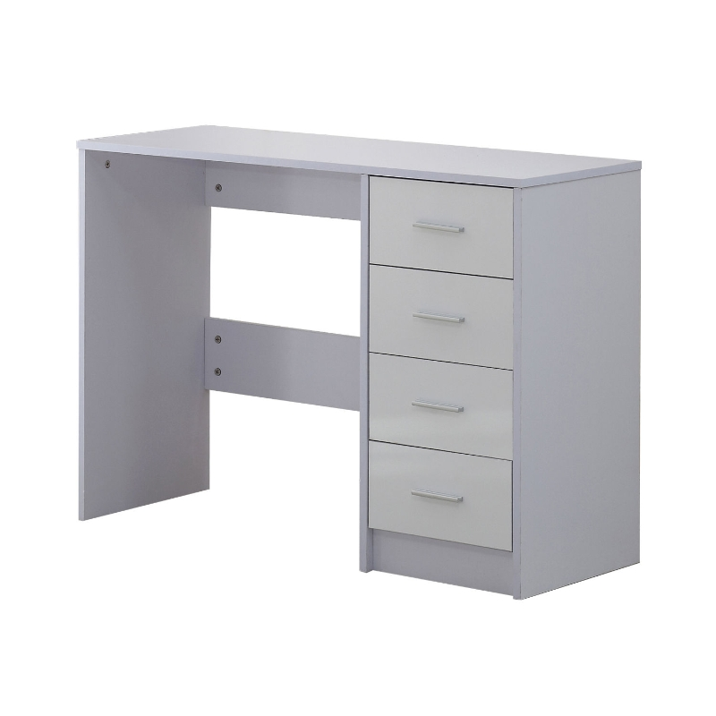 HOMCOM High Gloss 4 Drawers Table-White