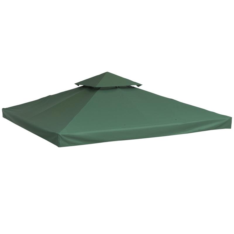 Vervangend dak voor metalen tuinpaviljoen paviljoen partytent tuintent 3x3 / 3x4m