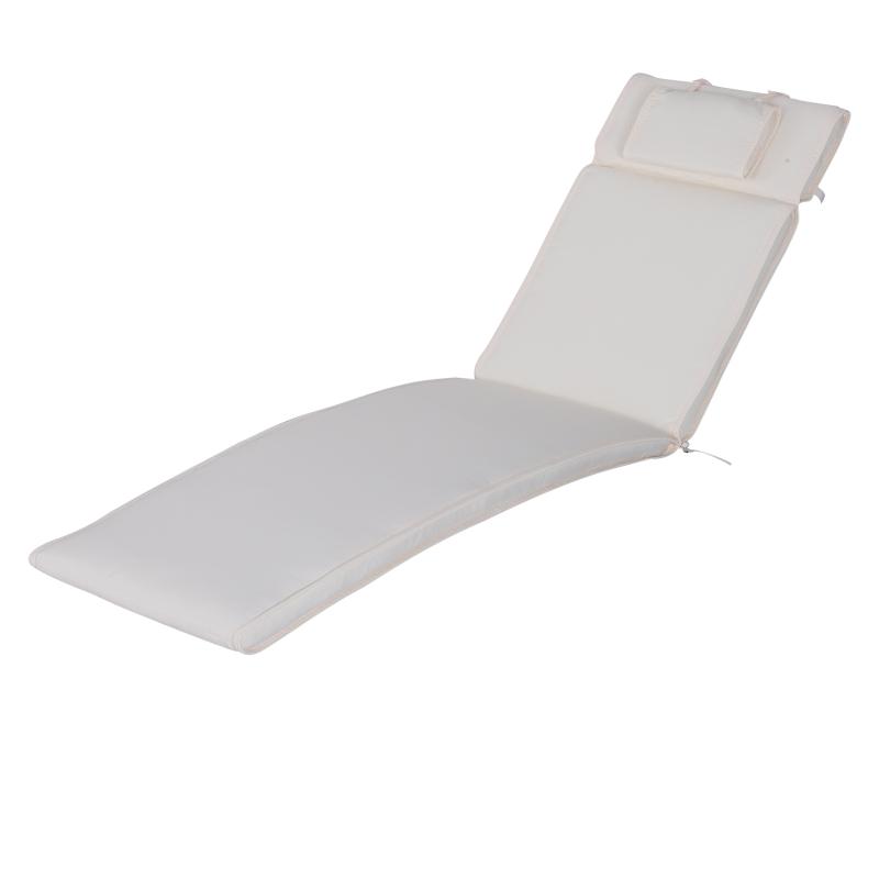 Ligbed met hoofdkussen loungebed ligbank katoenvezel polyester