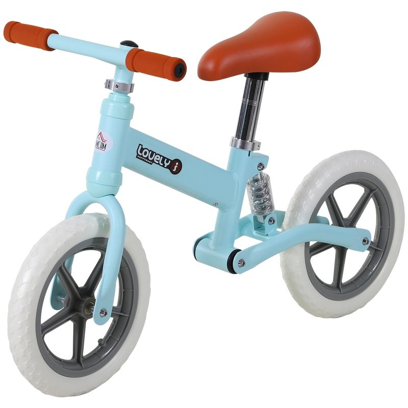 HOMCOM Toddler Balance Bike No Pedal Walk Training Blue