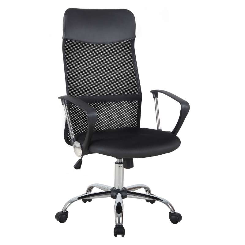 HOMCOM Swivel Executive Mesh Office Chair-Black