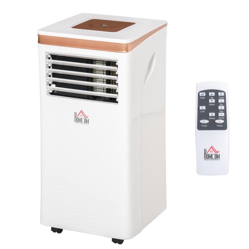 HOMCOM 7000BTU Portable Air Conditioner 4 Modes LED Display 24 Timer Home Office