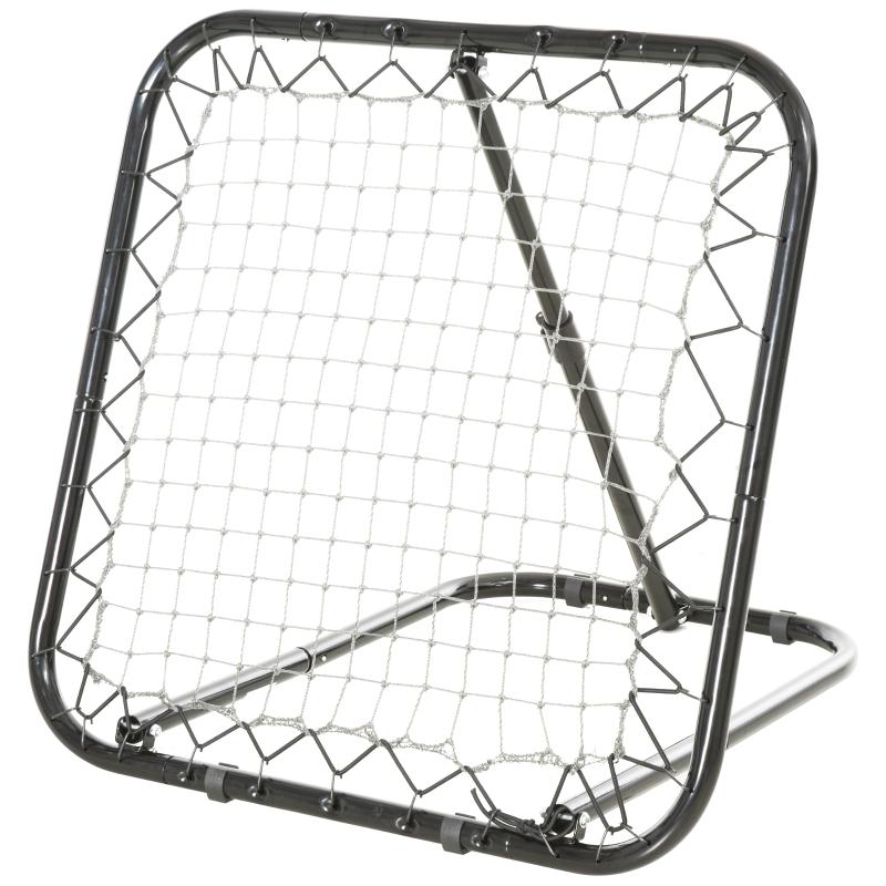 Baseball rebounder kickback goal terugveernet net inklapbaar metaal + PE zwart
