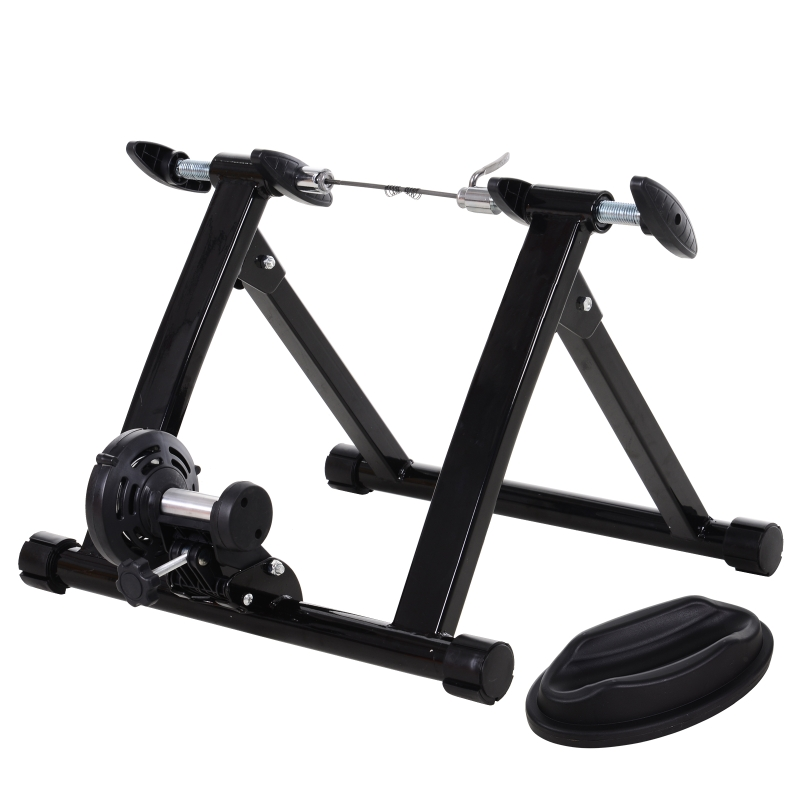 HOMCOM Foldable Indoor Bike Turbo Trainer-Black
