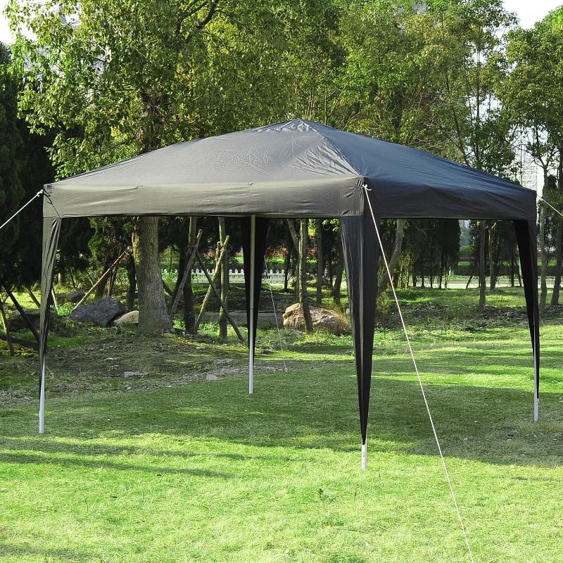 Outsunny 3 x 3 meter Garden Heavy Duty Pop Up Gazebo Marquee Party Tent Folding Wedding Canopy Black