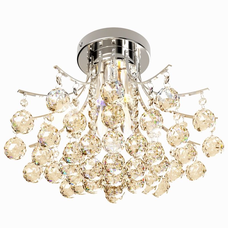 HOMCOM Modern K9 Crystal Ceiling Lighting Chandelier