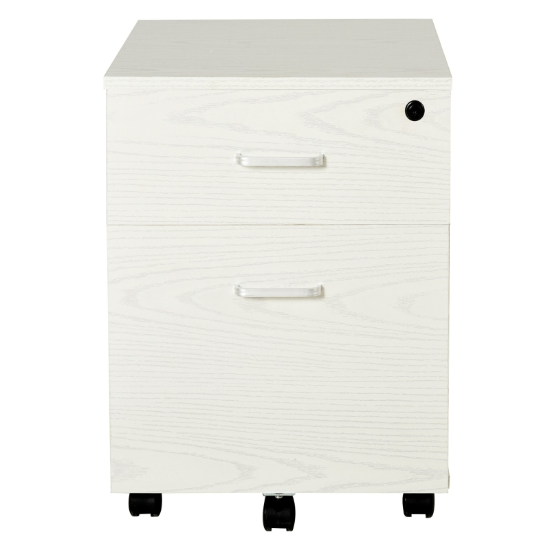 Vinsetto 2-drawer Filing Cabinet Lockable White