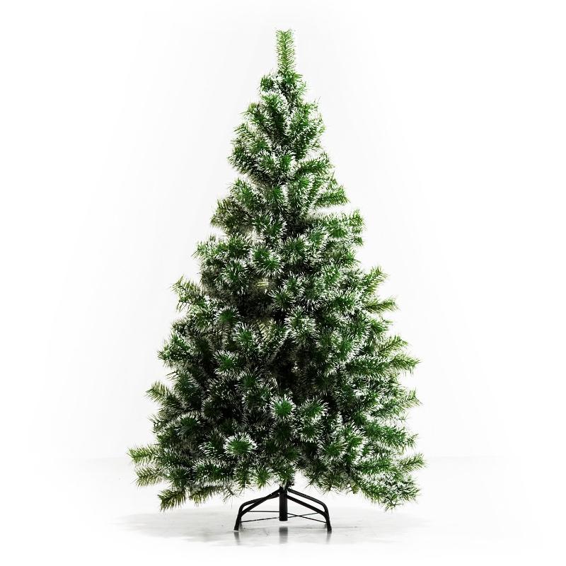 kerstboom kunstkerstboom dennenboom met bessen metalen voet PET
