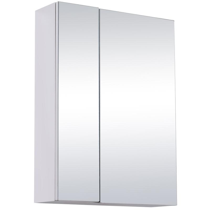 HOMCOM Stainless Steel Bathroom Mirror Cabinet, 59x43x16 cm