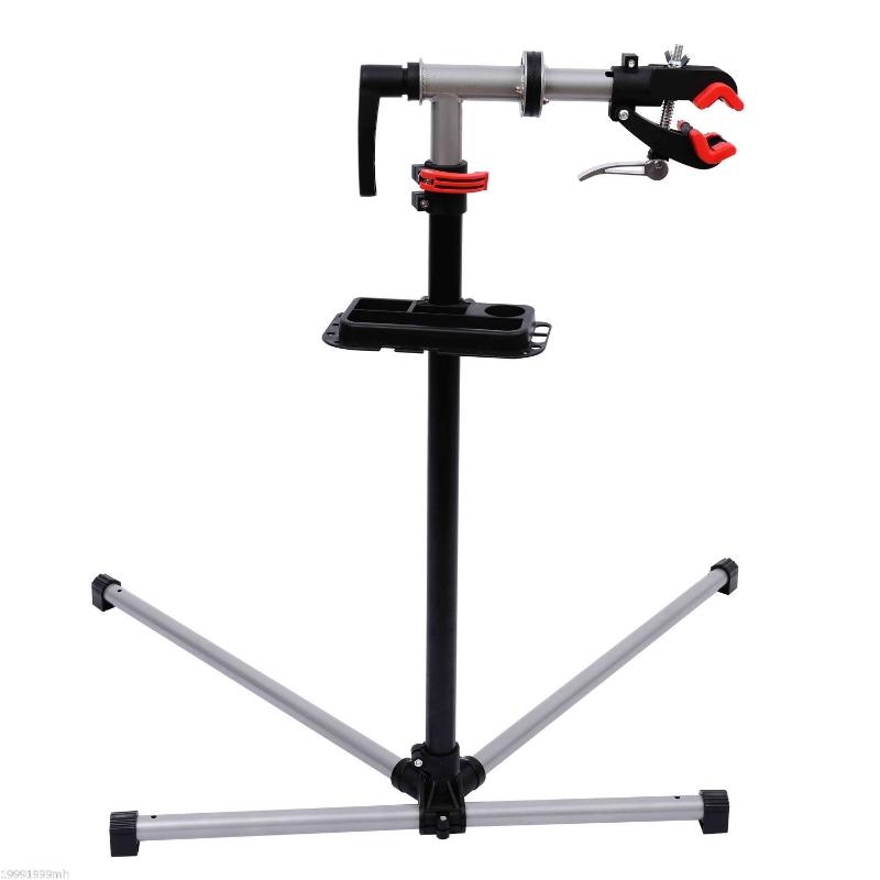 HOMCOM Adjustable Bicycle Repair Stand-Silvery Grey
