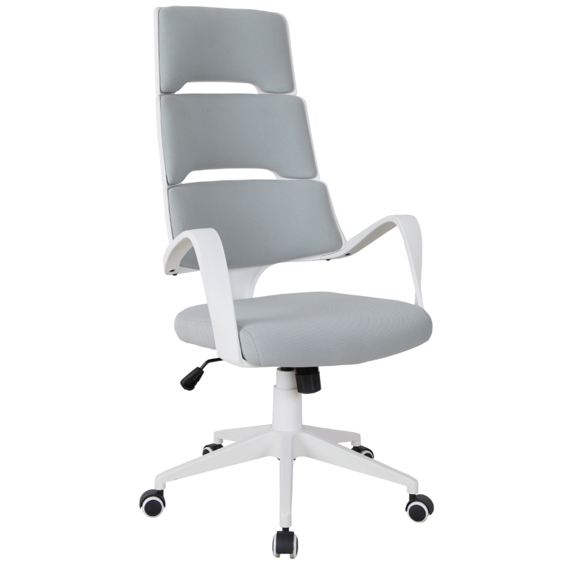 Vinsetto High Back Office Executive Chair w/ 360 Swivel Foam Padding Seat Grey