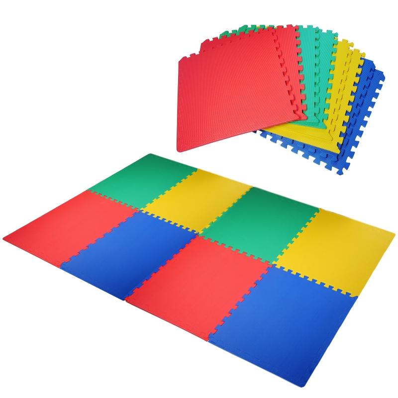 Puzzelmat speelkleed vloermat kinderspeeltapijt gymnastiekmat veelkleurig 8-delig