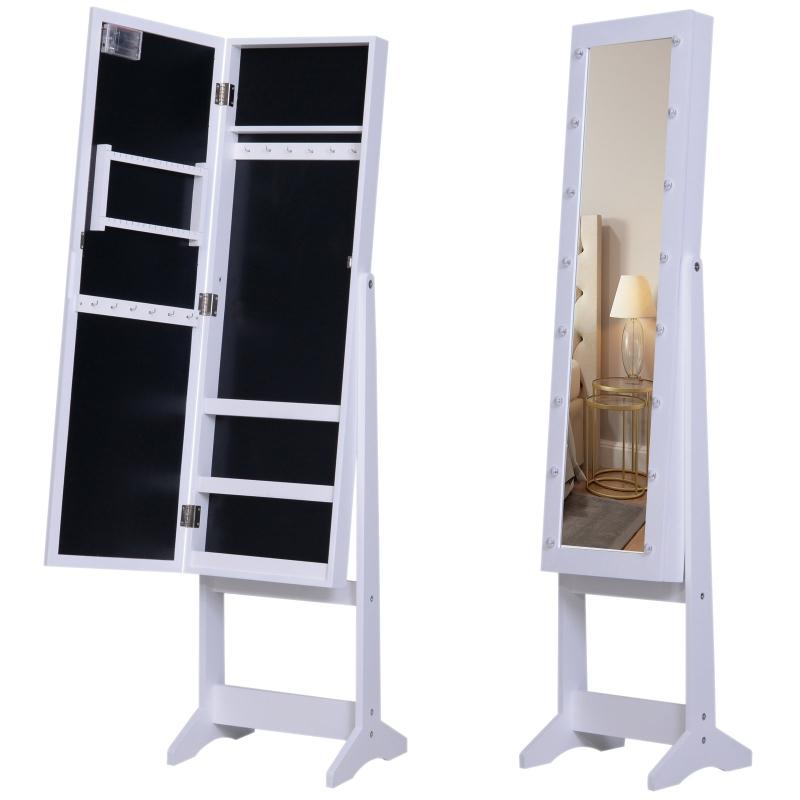 sieradenkast spiegel LED-verlichting spiegelkast verstelbare spiegel