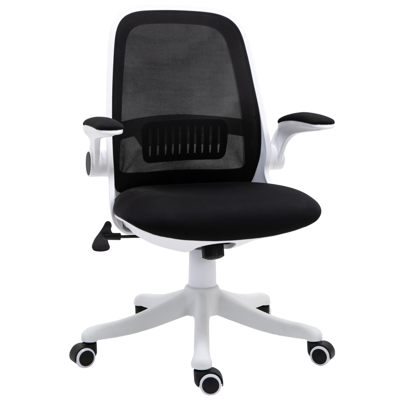 Vinsetto Nylon Mesh Cushioned Office Chair Black