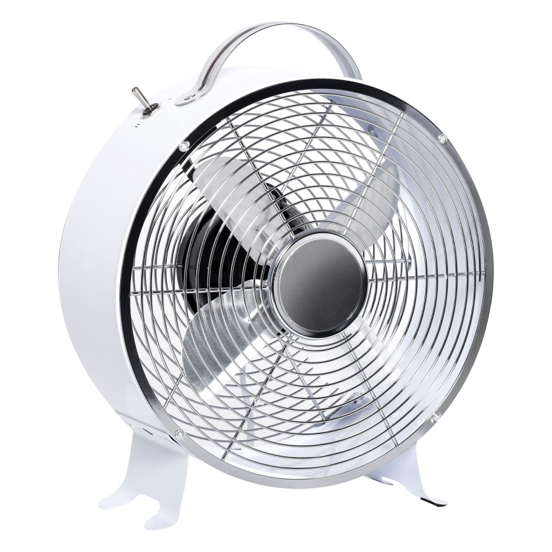 HOMCOM 26CM Electrical Table Desk Fan 2-Speed Portable for Home Office,White