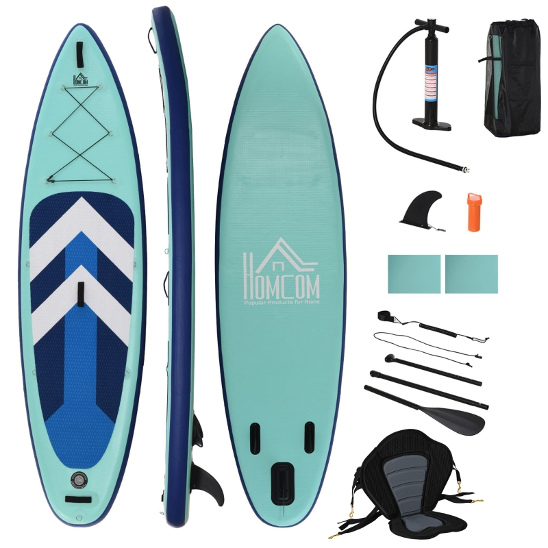 HOMCOM Inflatable Stand Up Paddle Board Kayak Conversion Kit SUP Accessories Bag Seat