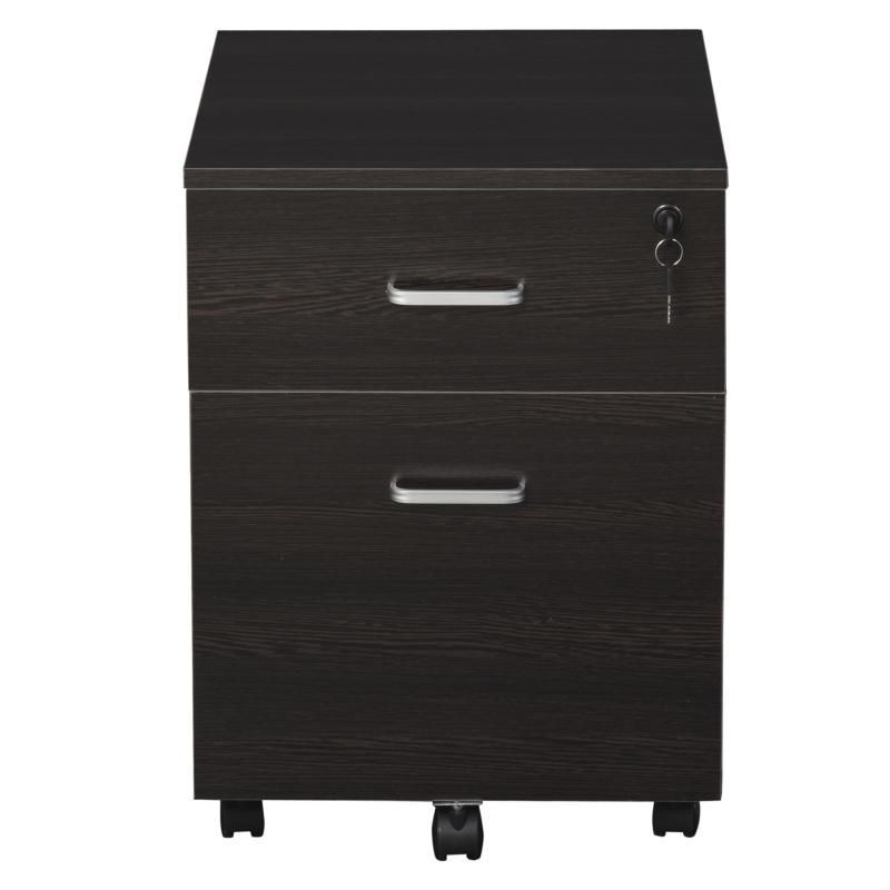Vinsetto 2-drawer Filing Cabinet Lockable Black