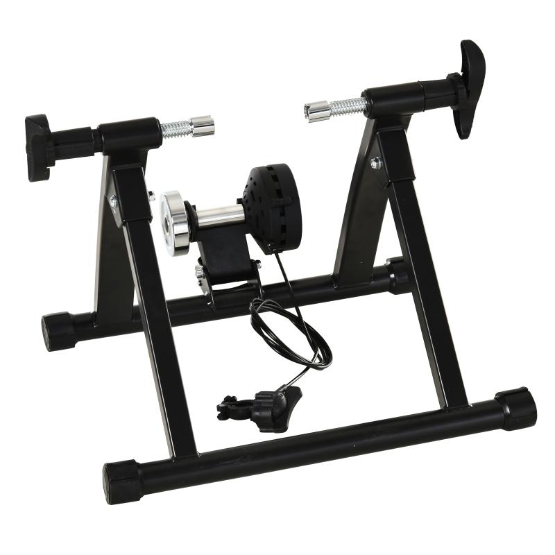 HOMCOM Stationary Black Indoor Exercise Bike 8 Speed Magnetic Resistance Bicycle Trainer