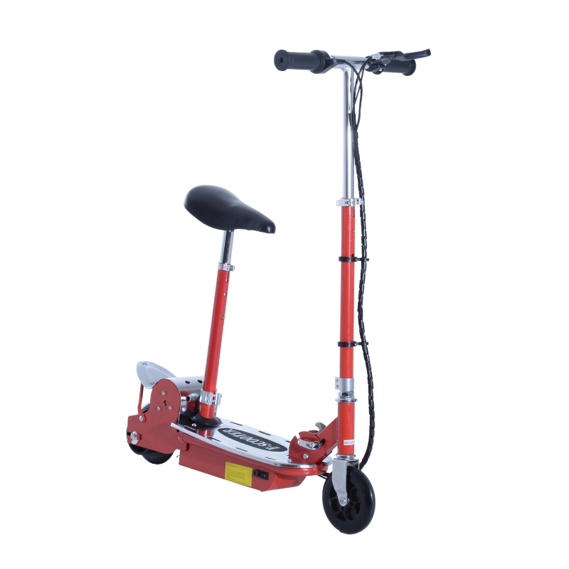 HOMCOM Electric Scooter, 120W-Red
