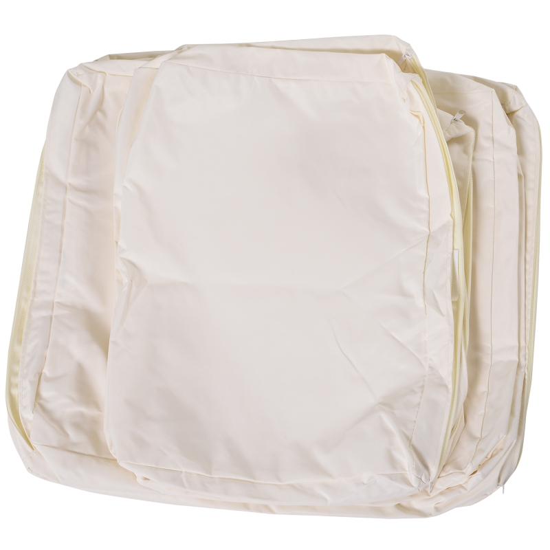 Outsunny Rattan Furniture Cushion Cover Replacement Set, 8 pcs-Cream