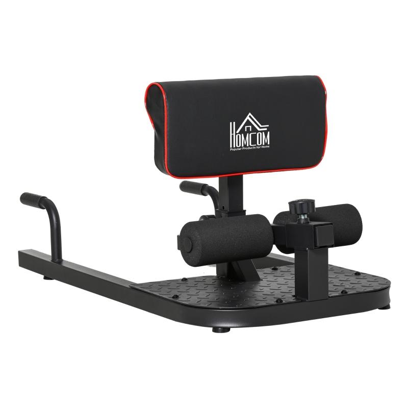 HOMCOM Squat Machine Fitness, 50W x 97D x 45.5-57.5Hcm-Black