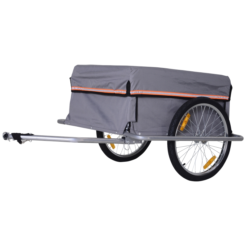 Transportaanhanger fietsaanhanger fiets opvouwbaar CargoTrailer grijs
